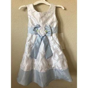 Youngland Flower Bow Sleeveless Adjustable Dress